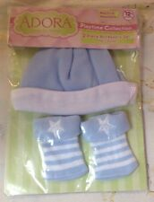 ADORA ACCESSORIES  -  Playtime Blue Hat And Booties