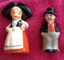 """OLIERA Tedesco Vintage Lady N Uomo Vestito tradizionale Porcellana Sale/Pepe 3"""""""