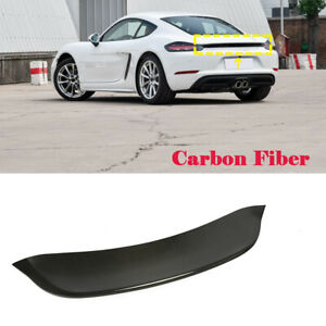 Passt für Porsche 718 Boxster 16-19 Heckspoiler Carbon Spoiler Abrisskante Lippe