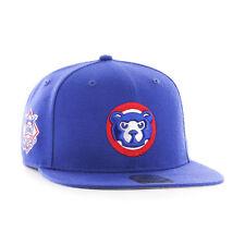 Chicago Cubs - '47 Brand MLB Snapback Hat Cap - Flat Brim Sure Shot Cooperstown