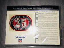 Atlanta Falcons 25th Anniversary Patch INCLUDING 30 FOOTBALL CARDS