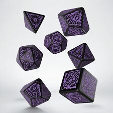 Call of Cthulhu Horror on the Orient Express Black-purple dice set-7- Q-workshop