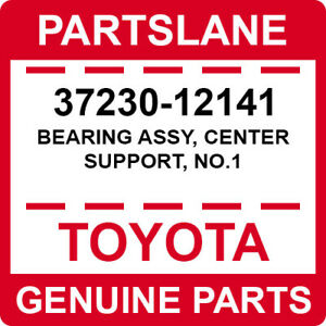 37230-12141 Toyota OEM Genuine BEARING ASSY, CENTER SUPPORT, NO.1