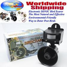 Sonic BIRD Repeller Scarer PIR Motion Sensor Predator Distress Call Weatherproof