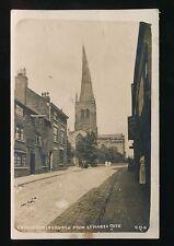 Derbyshire Derbys CHESTERFIELD Church Hare & Greyhound 1923 RP PPC