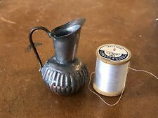 """Vintage Dollhouse Doll House miniature  2"""" Copper Pitcher 1950's  made in China"""