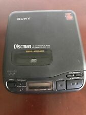 SONY MEGA BASS DISCMAN D-34 COMPACT CD COMPACT PLAYER WALKMAN 1993 TESTED WORKS