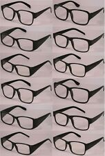 Reading Glasses [+3.75] 12 Black Plastic Frame  Wholesale Lot Reader Unisex 3.75