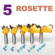 """5-pc-1/2"""" Shank Rosette Cutter Bit Set sct888"""