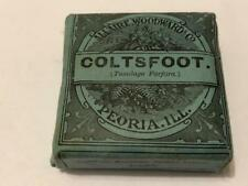 Antique Full Allaire Woodward Co Medicine Package Coltsfoot Herbs Drugs e.1900s
