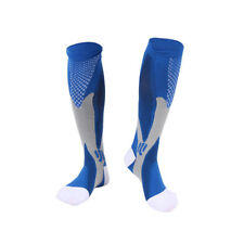 Unisex Leg Support Stretch Running Fitness Anti Fatigue Compression Socks Blue S/m