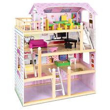 Barbie Dream House Wooden 4-Level Kids Dollhouse Furniture Girls Playhouse