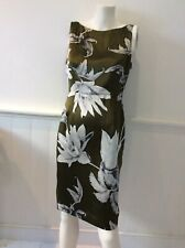 Coast green, black, white silk sleeveless dress size 14 bnwt