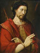 BELLE 16th secolo PROVERBI Uomo di dolori CRISTO ANTICO DIPINTO AD OLIO ATTACCHI