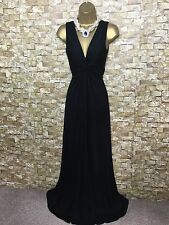 PHASE EIGHT BLACK JERSEY SAMANTHA MAXI FULL LENGTH EVENING DRESS SIZE 12-14
