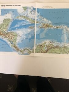 2002: Jumbo Map Of Central America And West Indies South America Physical