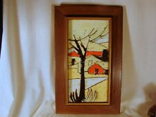 New listing Harris G. Strong High Fired Hand Painted Ceramic Tile, DoubleFramed, ExcellentCn
