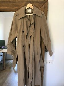 Zara Trench Size S Camel Colour Water Resistant