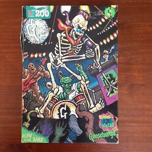 Vintage 1996 Goosebumps 200 Piece Jigsaw Puzzle MB, Curly, glow in the dark