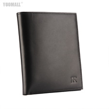 RFID Genuine Black Leather Mens Gents Bifold Credit Card Holder Note Wallet