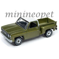 AUTOWORLD AWSP024 B 1973 CHEVROLET CHEYENNE STEPSIDE 1/64 GREEN / WHITE