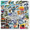 50Pcs Fishing Stickers Vinyl Decals for Laptop Car Water Bottle Guitar Luggage