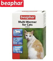 BEAPHAR CAT KITTEN MULTI WORMER ROUND & TAPE WORM TREATMENT PACK 12 TABLETS