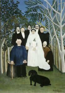 Henri Rousseau The Wedding Party Giclee Canvas Print Paintings Poster Reproducti