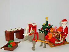 Playmobil - Père noël avec traîneau, lutin, renne, boite à lettres, sapin  ...