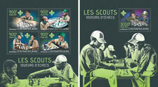 Scouts Pfadfinder Chess Schach Scoutism Sports Central Africa MNH stamp set
