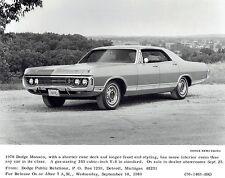 1969 Original Photo by DODGE NEWS the new 1970 Dodge Monaco V-8 automobile car