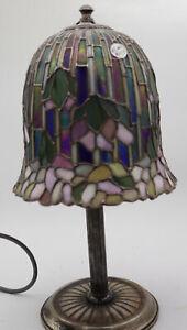 Lampada  Vavassori Parlume Tesere Vetro Tiffany Argento 925