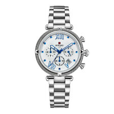Women's Fashion Quartz Watches Multifunction Silver Stainless Steel Bracelet