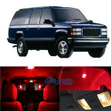 16Pcs Red LED Lights Interior Package kit for 1995-1999 Chevy/GMC Suburban+Tool