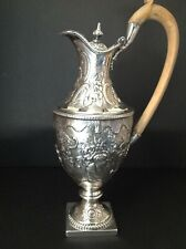 ANTIQUE GEORGIAN STERLING SILVER CRESTED CLARET WINE JUG 1777 CHINESE INFLUENCE