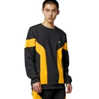 Dolly Noire Zink Ash Crewneck Felpa Uomo SW292 Black Yellow