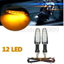 2x Universal Motorcycle Bike Amber LED Turn Signal Indicator Lights Blinker 12V