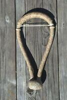 """Jose Ortiz 5/8"""" Light / Dark Natural Rawhide Bosal Traditional Knot - 18p"""