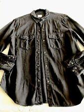 NWT GAP Woman's Western Embroidered LS Black Shirt. XLARGE.
