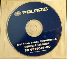 2003 POLARIS SNOWMOBILE TRAIL SPORT SERVICE MANUAL CD P/N 9918048-CD  (701)