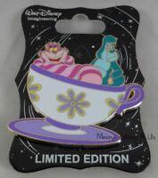 WDI Disney Disneyland D23 Expo Cheshire Cat & Caterpillar Teacup Pin LE 250