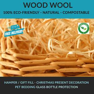 Luxury Dried WOOD WOOL Packaging Fill Filling Hamper Gift Basket WoodWool