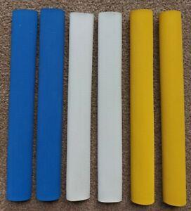6x Diamond Cricket Bat Grips - YELLOW, BLUE & WHITE - Oz Stock