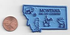 """MONTANA    """"BIG SKY COUNTRY """"   MT STATE OUTLINE MAP MAGNET    NEW"""