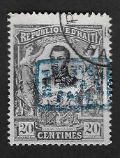 1904 HAITI 100 ANNIV of INDEPENDENCE OVERPRINT 1804 POSTE PAYE 1904 20c (CX1)