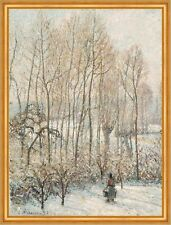 Morning sunlight on the snow, Eragny-sur-Epte Camille pissarro hiver B a2 00932