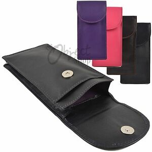 Mala Leather Quality Double Pocket Glasses Spec Case Magetic Stud Flap Reading