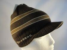 Umbro Radar Knit Beanie Visor Brim Hat Brown