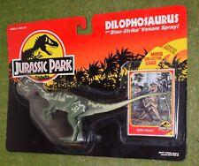 KENNER cardate JURASSIC PARK dilophosauri con Dino-Strike Venom sprey