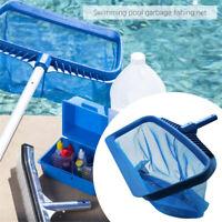 Heavy Duty Leaf Rake Mesh Frame Net Skimmer Cleaner Swimming Pool Spa Tool